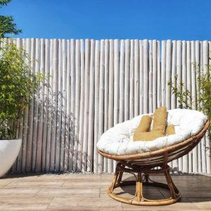Bambusrohre Weiß