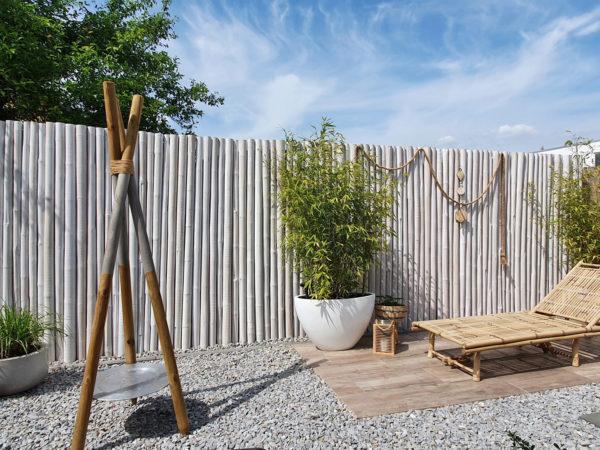 Bambusrohr Wandverkleidung Wooden Globe