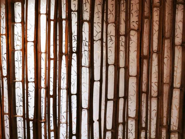 Bambus Skelett Wanddekor Wooden Globe