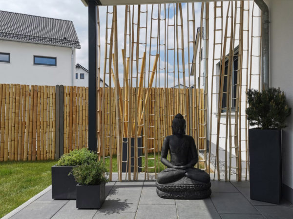 Bambus Skelett Wand Terasse Wooden Globe